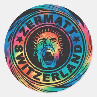 Zermattの渦巻のステッカー ラウンドシール