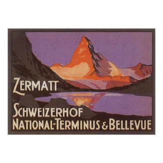 Zermattスイス連邦共和国 ポスター