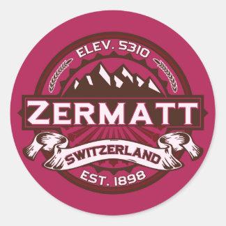 Zermatt色のロゴ ラウンドシール