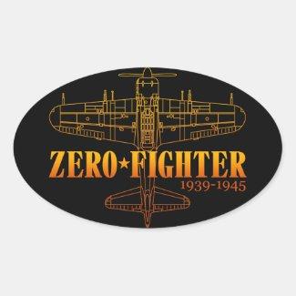 ZEROFIGHTER4 卵形シール・ステッカー