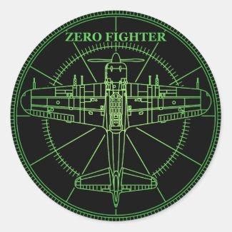 ZEROFIGHTER RADER 丸形シールステッカー