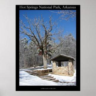 zHotは国立公園、氷の雪小屋ポスターはねます ポスター