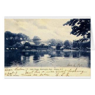 ZHR0039 1907年ヴィンテージのワシントン州公園、アルバニーの カード