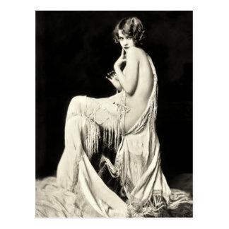 Ziegfeldのコーラスガールの郵便はがき ポストカード
