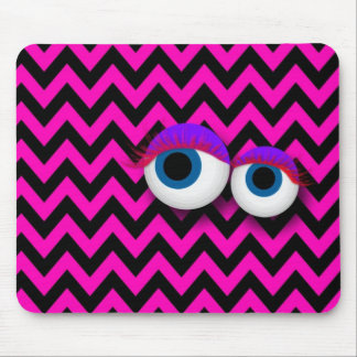 ZigZag eye Monster pad : pink マウスパッド