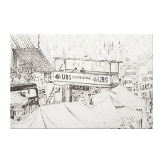 Zinal山の競争へのSierre終わり2012. キャンバスプリント