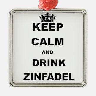 ZINFADEL穏やか、飲み物保って下さい メタルオーナメント
