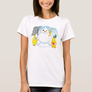 Zingozの雪だるま Tシャツ