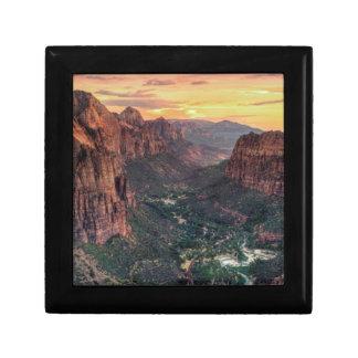 Zion渓谷の国立公園 ギフトボックス