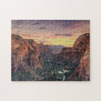 Zion渓谷の国立公園 ジグソーパズル