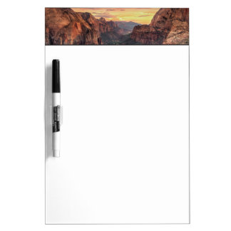 Zion渓谷の国立公園 ホワイトボード
