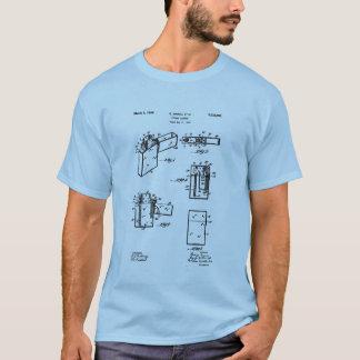 Zippoのライターのパテントのイメージ Tシャツ