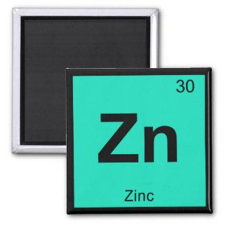 Zn -亜鉛化学周期表の記号の要素 マグネット