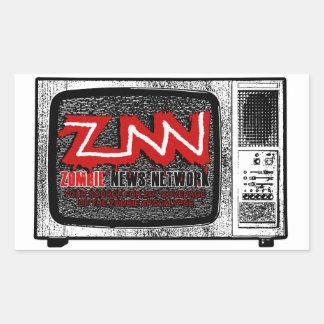 ZNN -ゾンビのニュースネットワークのステッカー 長方形シール