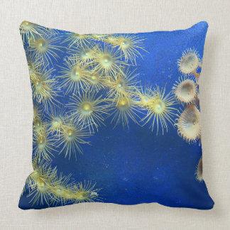 Zoanthidか黄色いポリプの珊瑚の枕 クッション