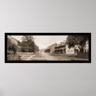 Zoarオハイオ州の古い通りの写真1905年 ポスター