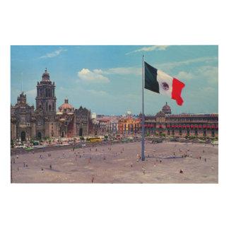 Zocalo、メキシコシティ、メキシコ ウッドウォールアート