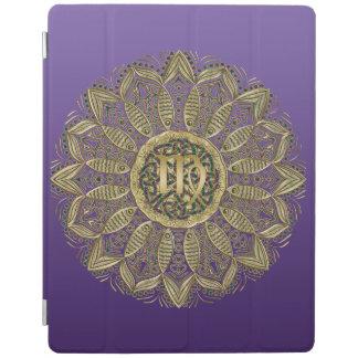 Zodiac Sign Virgo Mandala Earth Tones iPadスマートカバー
