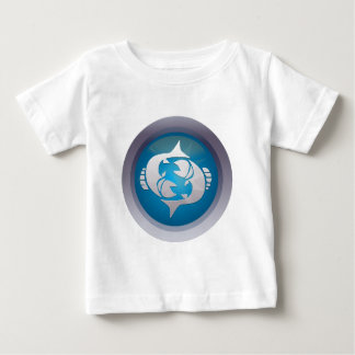 ZodiacButton_Pisces.png ベビーTシャツ