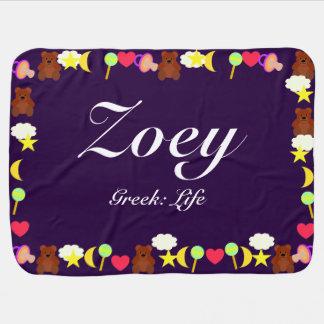 Zoeyのベビーブランケットのテンプレート ベビー ブランケット