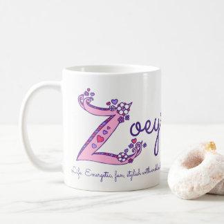 Zoeyの一流の意味装飾的なZモノグラムのマグ コーヒーマグカップ
