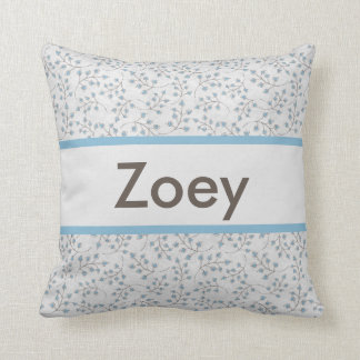 Zoeyの名前入りな枕 クッション