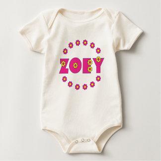 Zoeyフローレス島のピンク ベビーボディスーツ