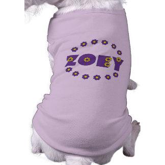 Zoeyフローレス島の紫色 ペット服