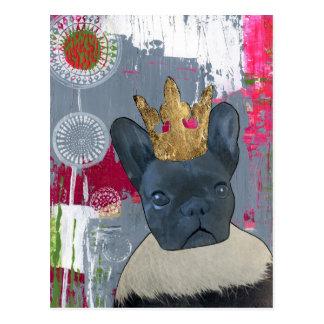 Zoey女王フレンチ・ブルドッグ ポストカード