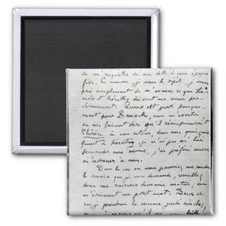 ZolaからのエドワールManet 1868年への手紙 マグネット