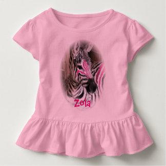 Zolaシマウマの幼児によって波立たせられるTシャツ トドラーTシャツ