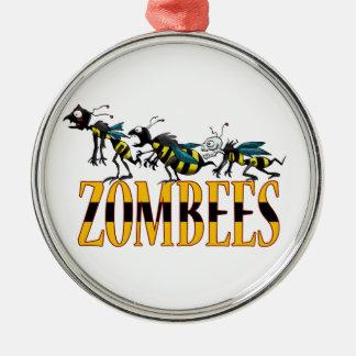 ZOMBEES シルバーカラー丸型オーナメント