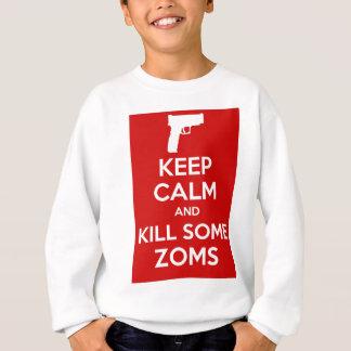 Zomsのピストル赤を殺して下さい スウェットシャツ