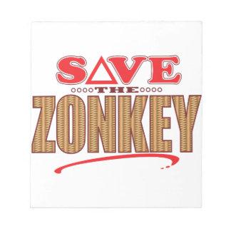 Zonkeyの保存 ノートパッド