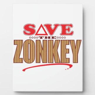 Zonkeyの保存 フォトプラーク