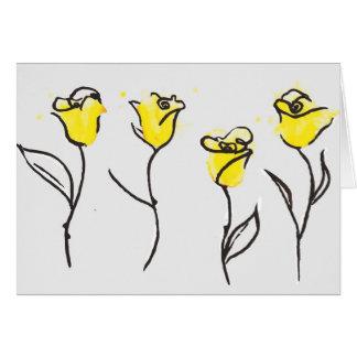 Zontaの黄色バラのメッセージカード カード