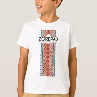 Zorepadの刺繍の中心 Tシャツ