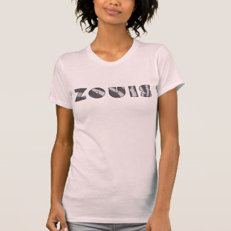 zouisのシマウマのプリント tシャツ