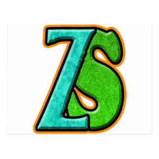 ZS -ゾンビの南瓜TM ポストカード
