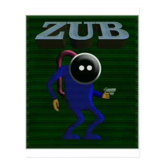 Zubのレトロの賭博 ポストカード