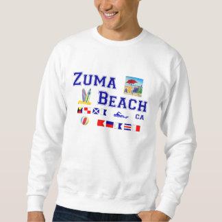 Zumaのビーチ-海上旗のスペリング スウェットシャツ