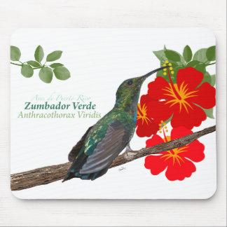 Zumbador Verde deプエルトリコか緑のマンゴ マウスパッド