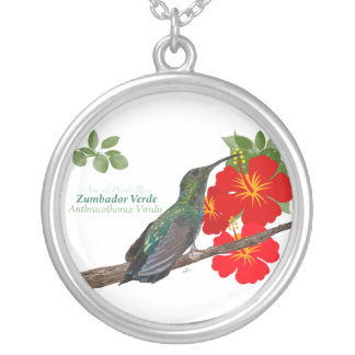 Zumbador Verde deプエルトリコか緑のマンゴTBA 4/7/ シルバープレートネックレス