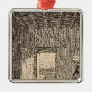 Zuni部屋 シルバーカラー正方形オーナメント