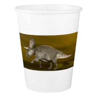 Zuniceratopsの恐竜- 3Dは描写します 紙コップ