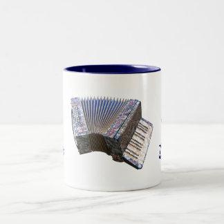 ZYDECOのアコーディオンの陶磁器のマグの気分では、 ツートーンマグカップ