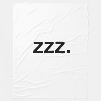 ZZZ フリースブランケット